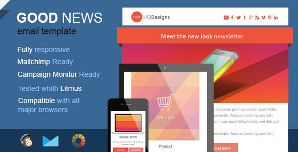 Good News  Powerful Email Template  Responsive Email