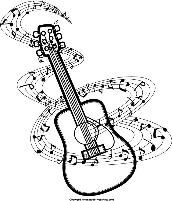 Guitar Music Notes Clipart Clipartwiz