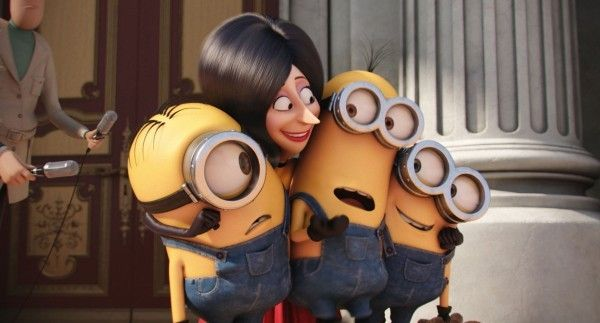 Scarlet Overkill With The Minions Stuart Kevin And Bob From Minion Movie