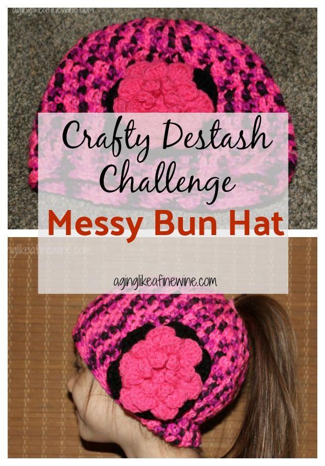 Messy Bun Hat For Kids Crafty Destash Challenge Messy Buns