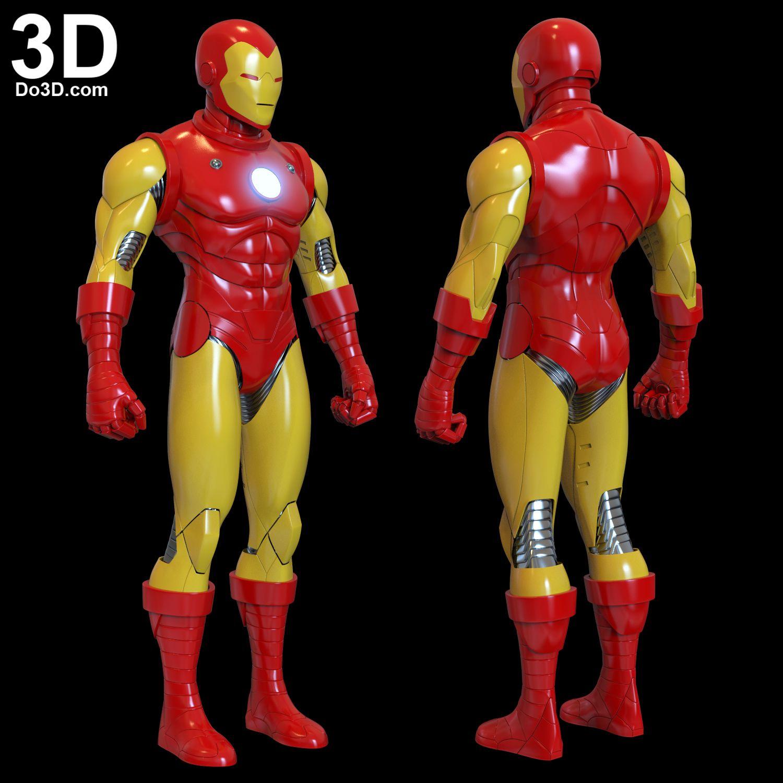 Iron Man Classic Comic Version Toy Stark Suit Armor Helmet For Cosplay Prop Costume 3d Printable Model Print File Stl By D Iron Man Iron Man Cosplay Tony Stark