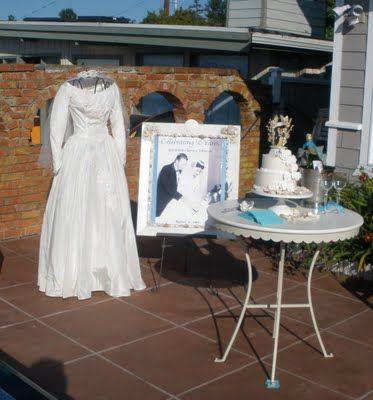 Display Wedding Dress At 50th Wedding Anniversary Party 50th Year Wedding Anniversary 50th Wedding Anniversary Decorations 50th Wedding Anniversary Party