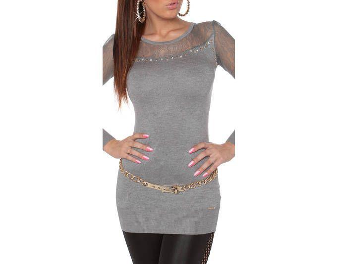 Kleid grau strass