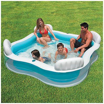 Intex 174 90 X 90 Square Inflatable Pool At Big Lots This