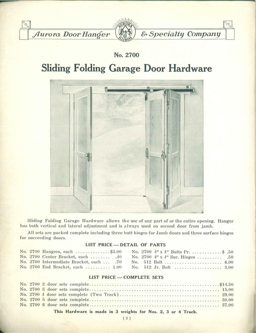 Sliding Folding Garage Door Hardware from \