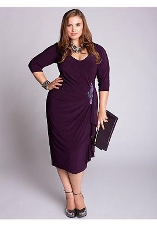Igigi Dress Plus Size 18 20 2x Purple Hayworth Dress Style Made Usa