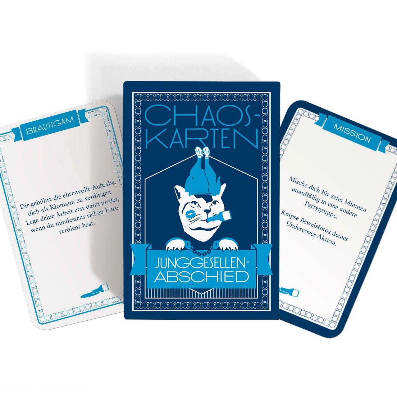 JGA Chaoskarten Junggesellenabschied Spiel   selekkt – Heim für junges Design