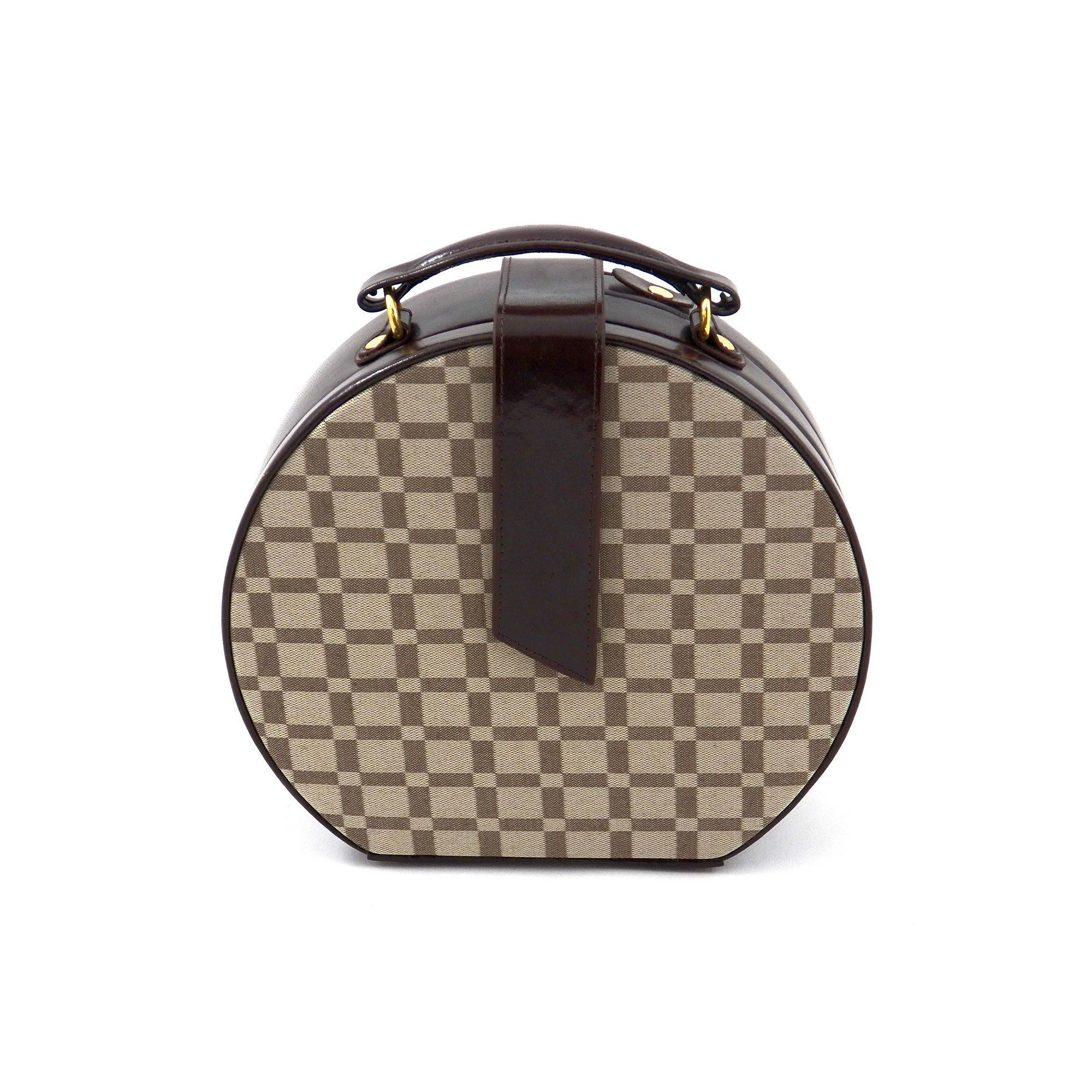 Kohls Jewelry Box Fair Beyberk Brown Leather Checkered Jewelry Box And Valet Tray Set Inspiration Design