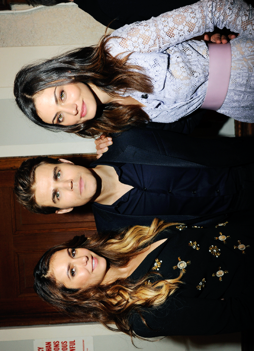 Nina Dobrev, Paul Wesley, and Phoebe Tonkin at The CW Network's 2014 Upfront party {by Paria}