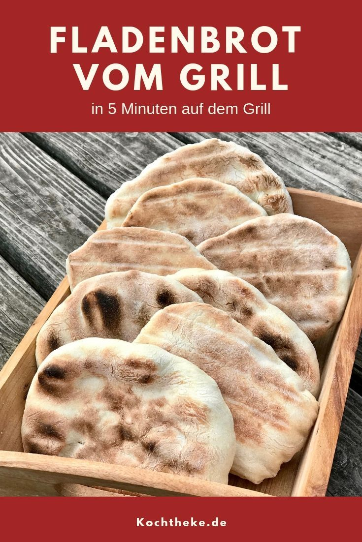 Photo of Schnelles Fladenbrot vom Grill – Kochtheke