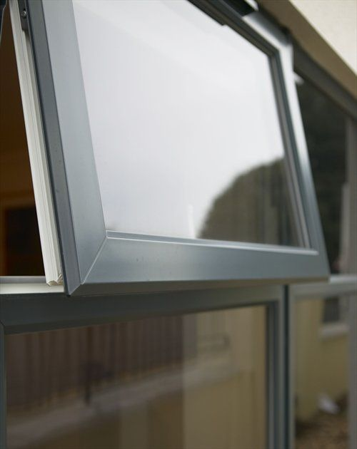 Rehau smooth anthracite foil one of many standard colour for Upvc window frame