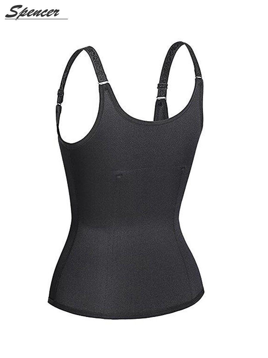 ba07a4fb693e5 Spencer Women Sauna Underbust Corset Body Shaper Waist Trainer Cincher  Tummy Control Shapewear Vest
