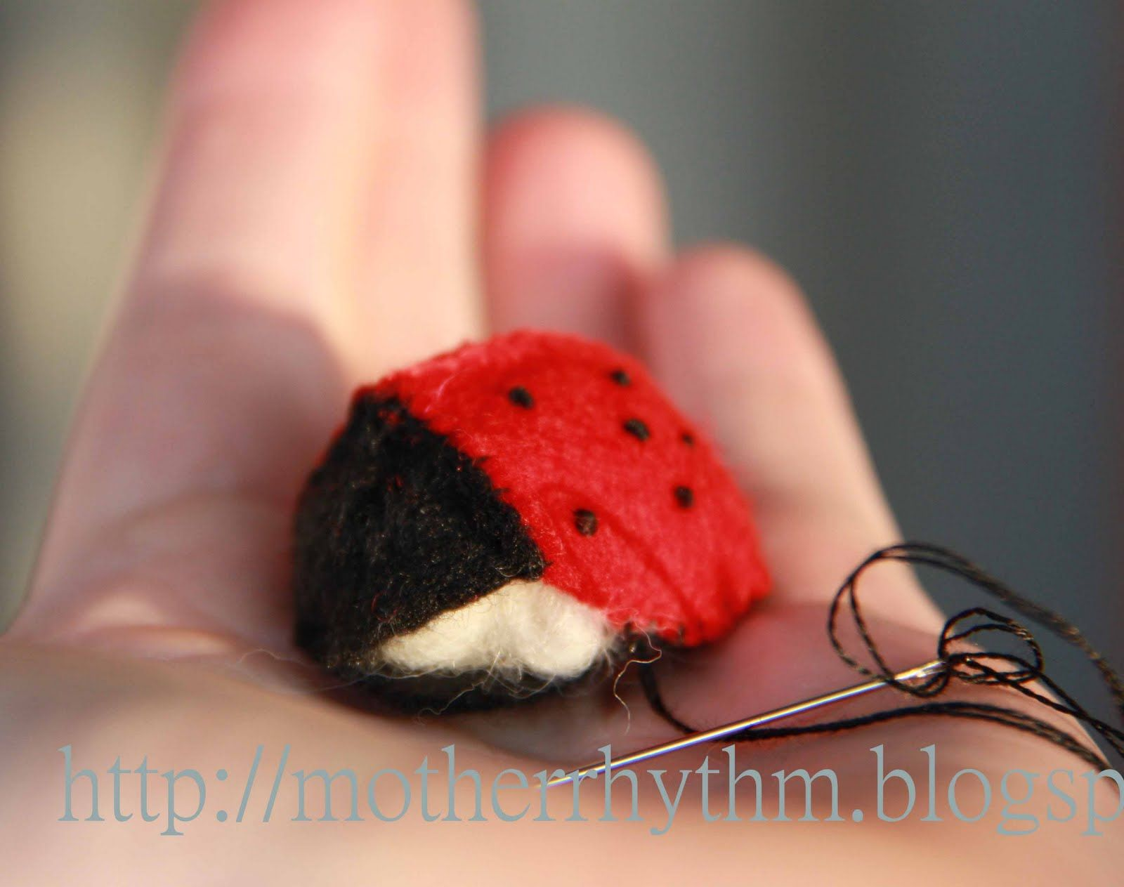 Red Ladybird Insect Ornament Home Garden Decor Wall Hanging Art Craft 16cm