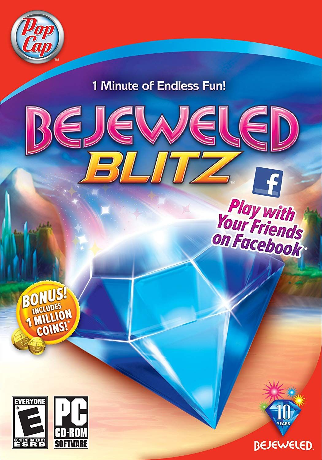 Bejeweled Blitz is a puzzle video game, originally a