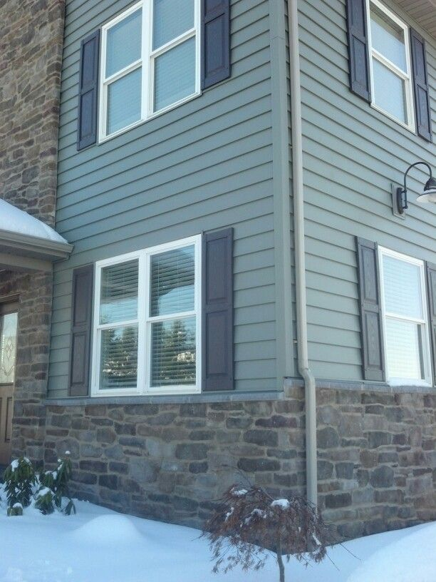 Love This Color Scheme For Siding And Water Table. Siding: R. Miller,  (Hanover, PA) Type  Cedar Mix Color  Aspen Stones: Tri Boro Construction,  ...