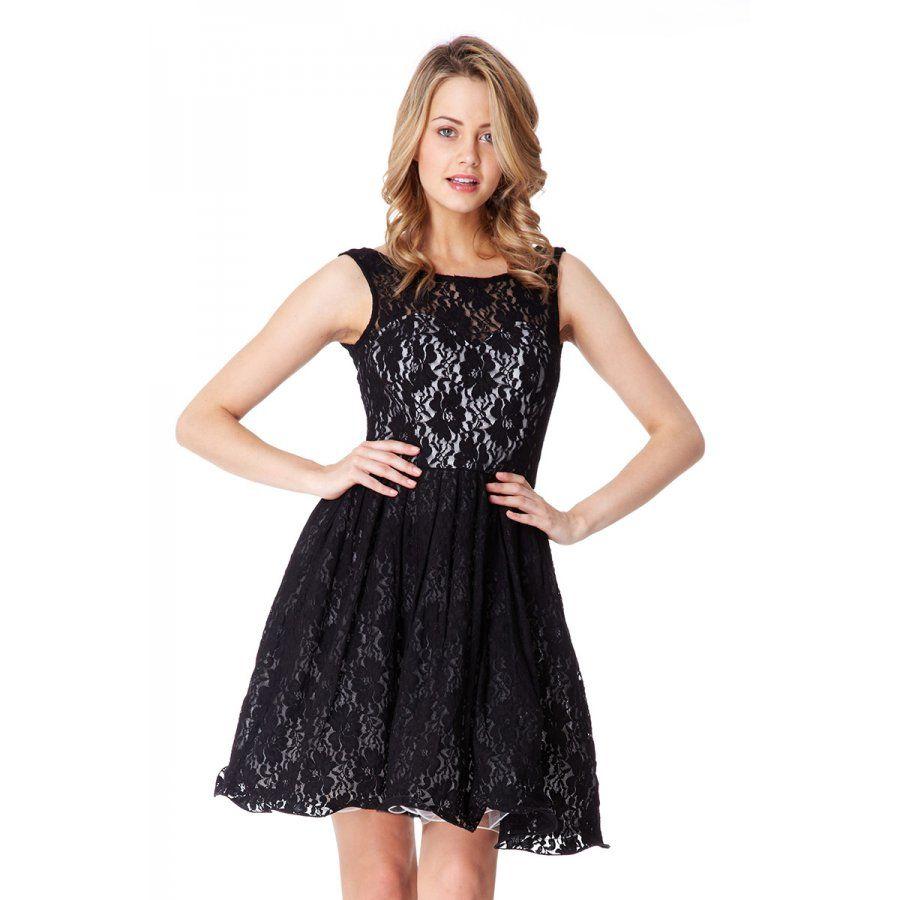 Black Lace Bow Prom Dress - Quiz Clothing
