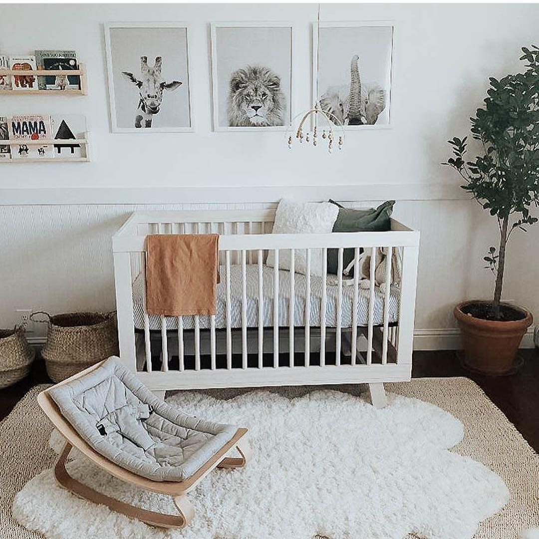 Stylish Bump On Instagram Nursery Love A Classic Gender Neutral Nursery With Decor And A Theme That S Goo Nursery Baby Room Baby Room Decor Baby Bedroom