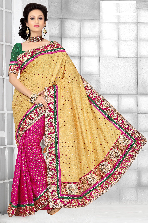 a68ccfb7442149 LFA1007  Beautiful  SAREE  Fabric  Upadda silk  Dazzling  Glamorous  Party   Events  Pink