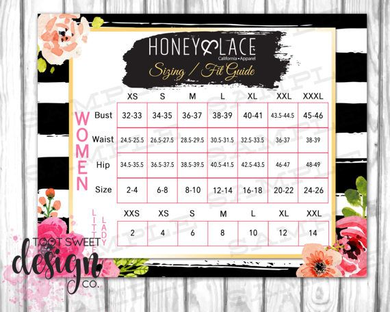 Honey And Lace Sizing Fit Guide Honey Amp Lace Size Chart