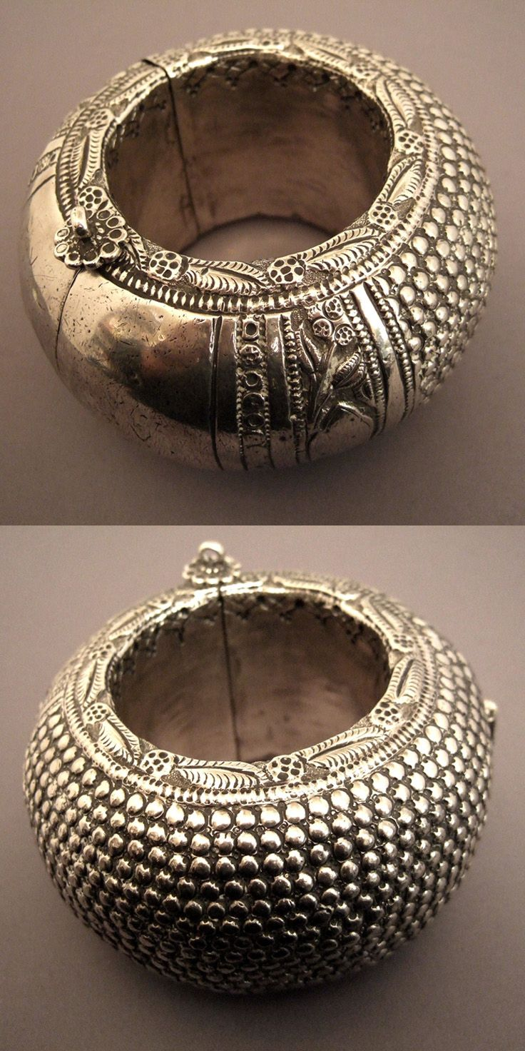 India Bracelet From Rajasthan Silver Opens And Closes