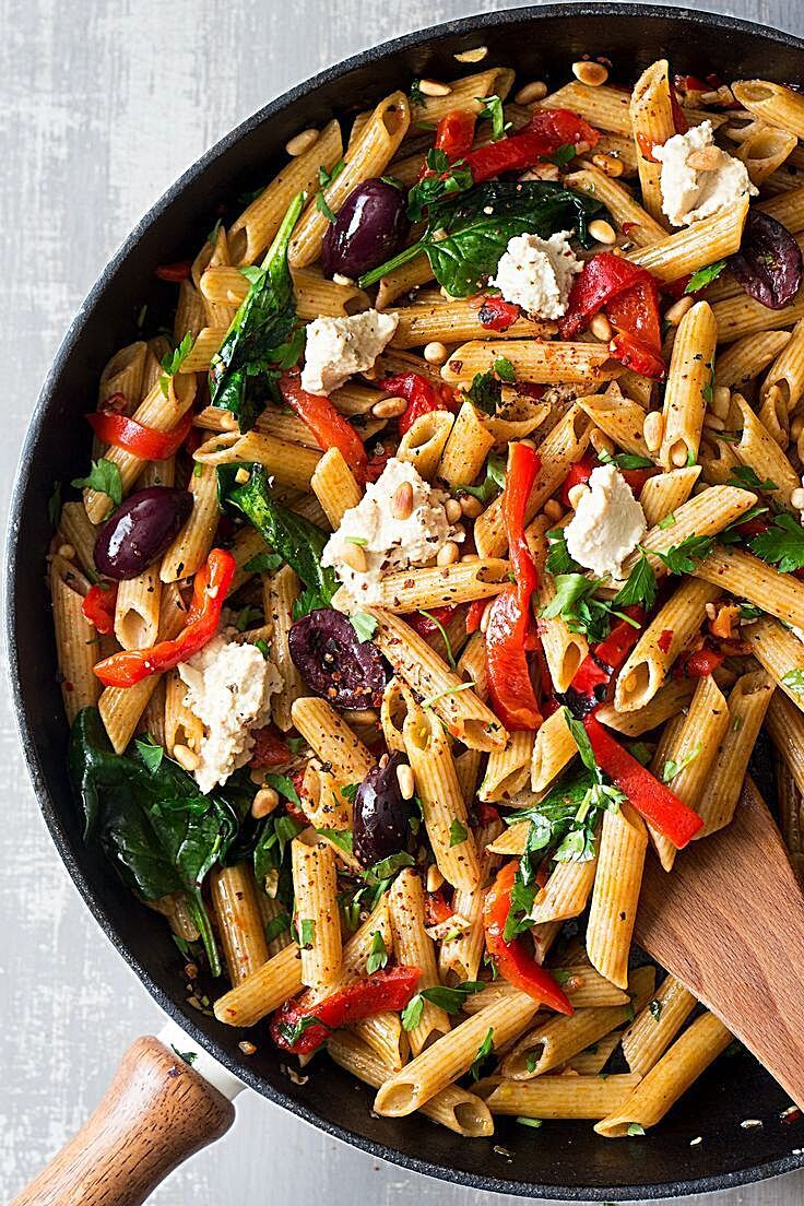 This vegan red pepper pasta comes together in less than 20 minutes. It's super tasty, nutritious and naturally vegan. It can also be made gluten-free. Vegan red pepper pasta - vegan red pepper pasta pan #foodquotes #recipesbyyou #RecipeOrganization #foodofinstagram #recipeguide #foodandbeverage #foodspring #foodaddict #foodfestival #recipecomingsoononblog #foodillustration #recipealsa #foodprnshare #recipesforchange #foodpictures