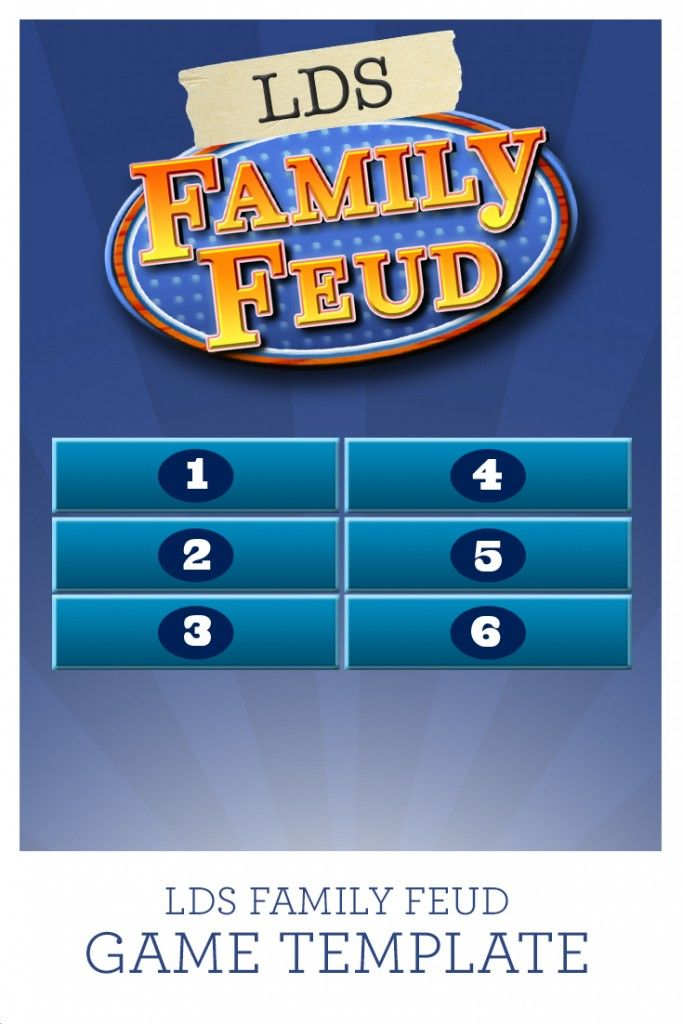 Gospel Game Night (Apostle Prophet trivia, LDS family feud - family feud power point template