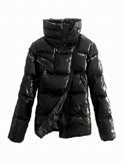 Moncler Zipper,Moncler Diagonal Zipper Womens Down Jacket Black Online Store - $203.15 Moncler Jackets For Women ...
