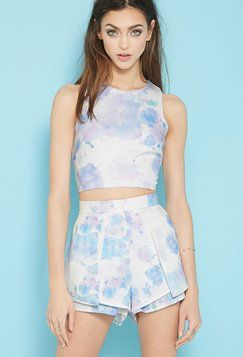 Forever21 Tiger Mist Lavender Splash Crop Top Found on my new favorite app Dote Shopping #DoteApp #Shopping