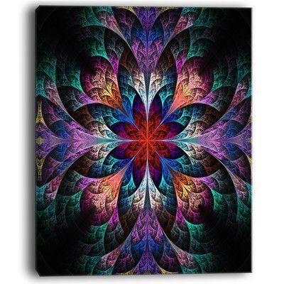 Best Design Art Multi Color Fractal Flower Pattern Graphic Art 400 x 300