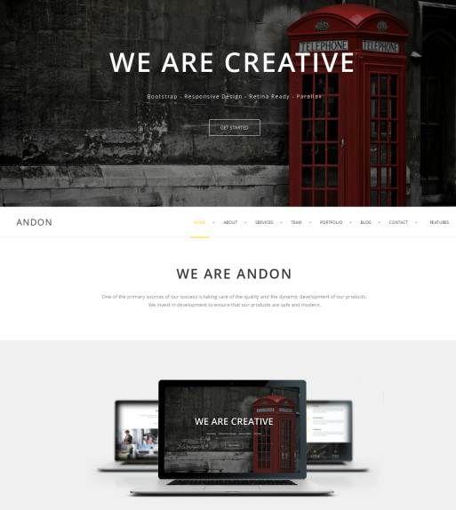 ANDON - Responsive Parallax WordPress Theme 40+ Premium Responsive WordPress Themes 2014