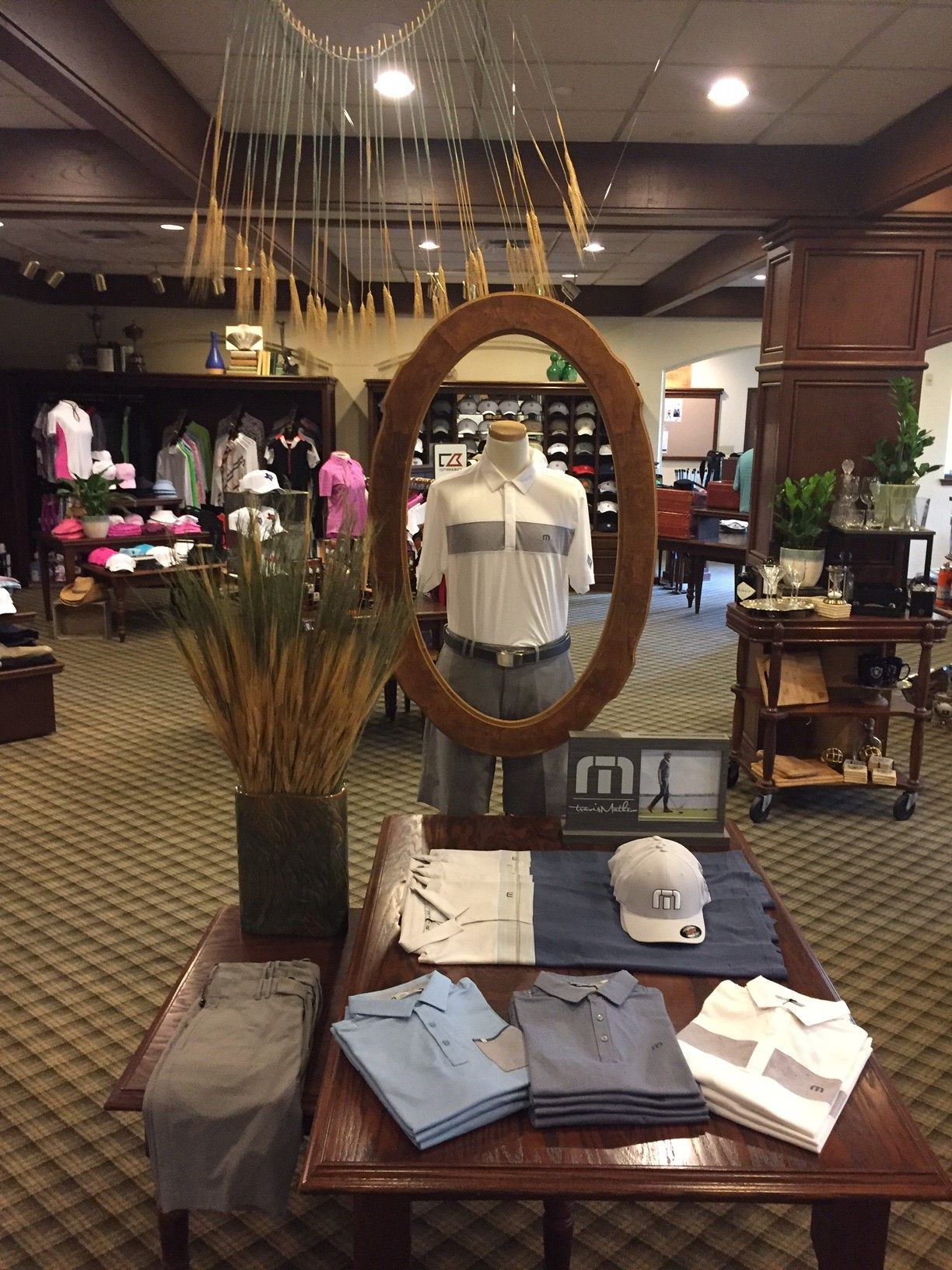 Golf shop table display Golf shop, Store displays, Table