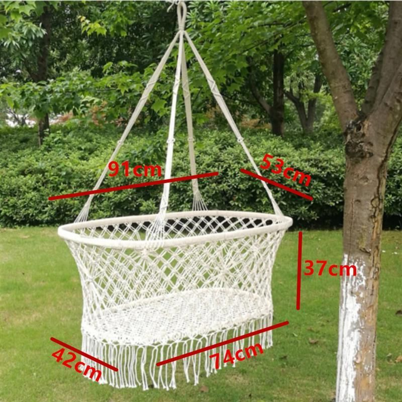 Type Woven Crib Basket Feature Hanging Basket Swing Dimension 60904275Basket Height 30cm Material cotton rope Ages Applicable 024 Months Weight Capacity  20KG Newborn Bab...