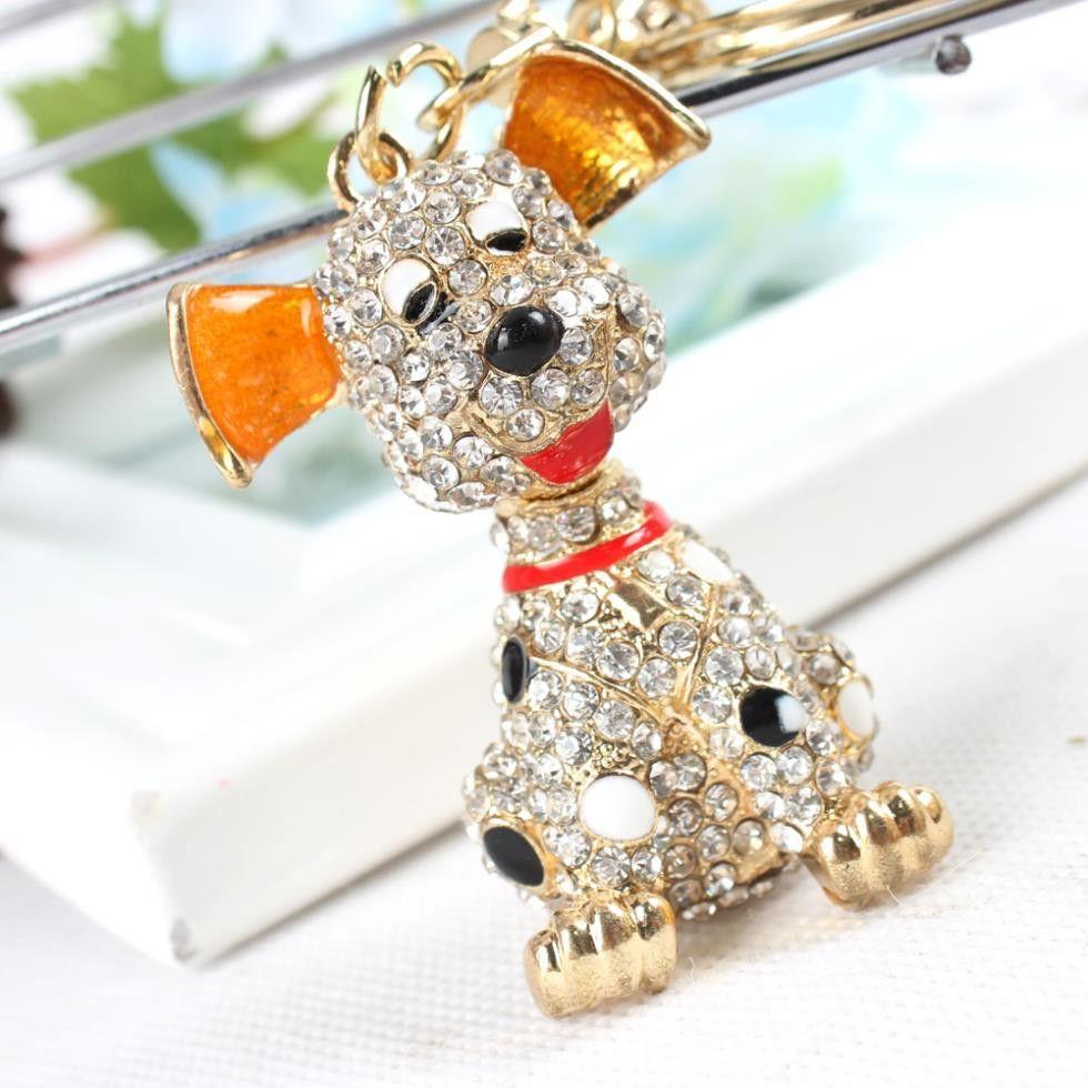 New Dog Cute Charm Lovely Pendant Rhinestone Crystal Purse