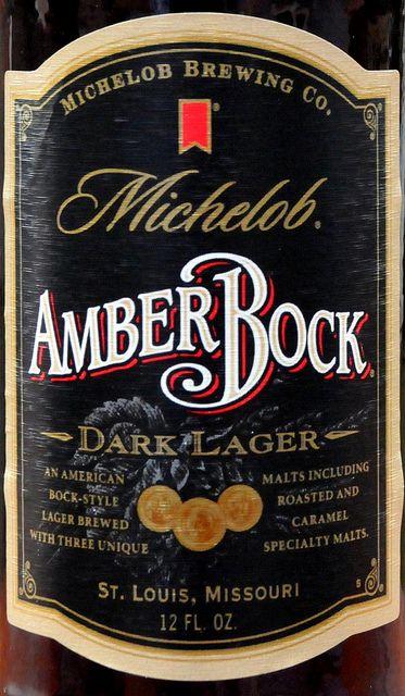 Michelob Amber Bock Dark Lager Beer Beer Label Beer Tasting