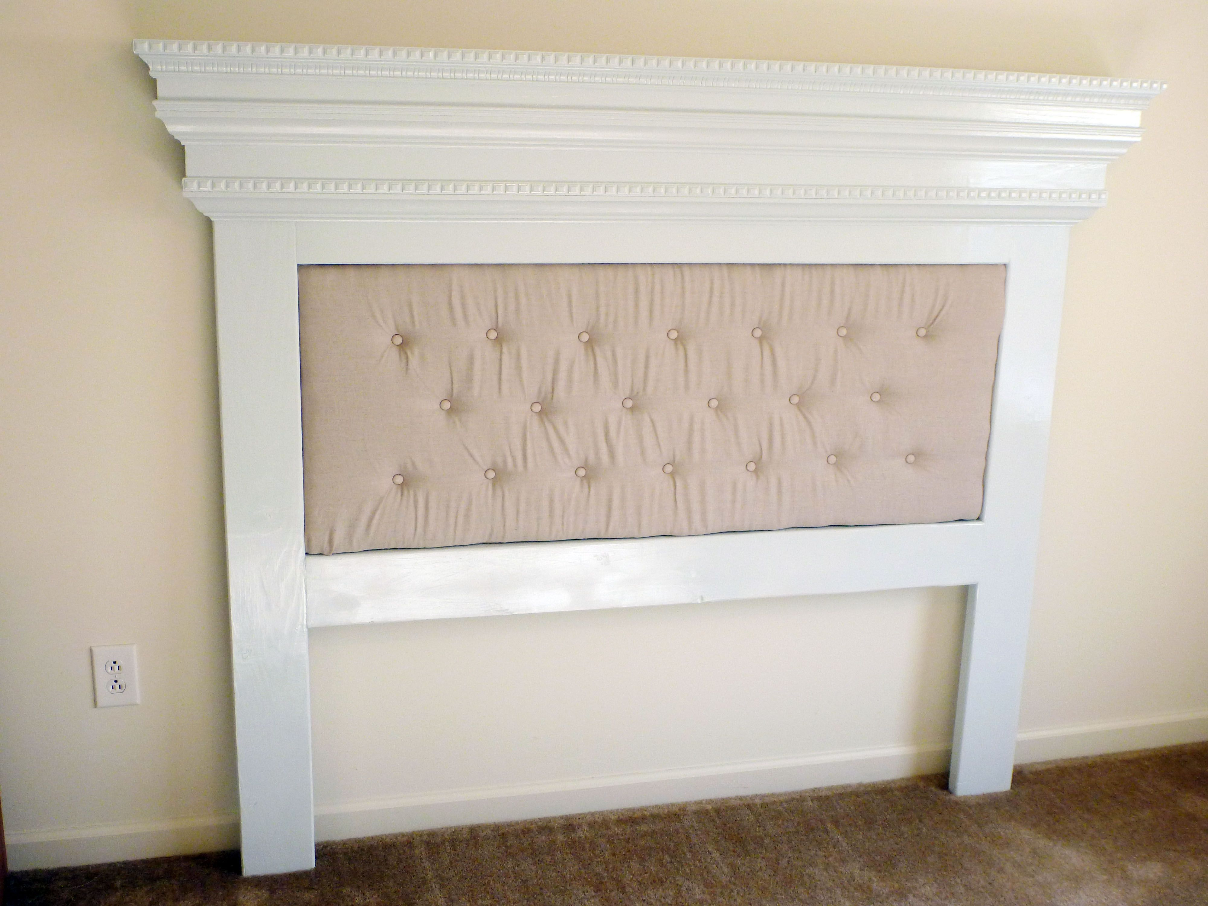 Our mantel moulding headboard with a unique twist do it yourself our mantel moulding headboard with a unique twist do it yourself home projects from ana solutioingenieria Images