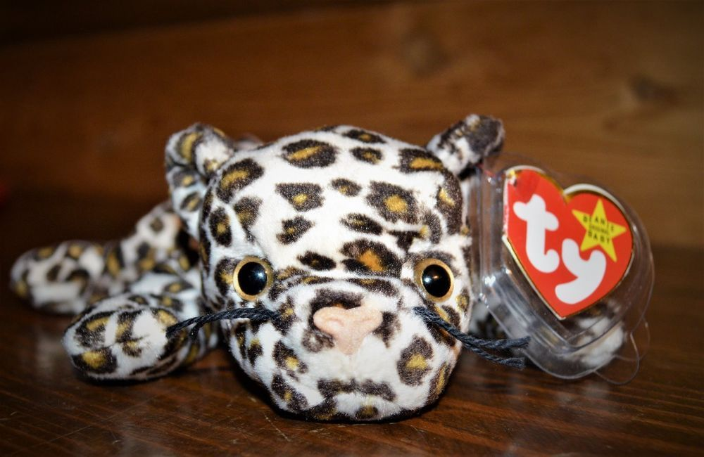 889102725a1 RARE 1996  TY Beanie Baby  Freckles  the Leopard with multiple Errors!  Ty