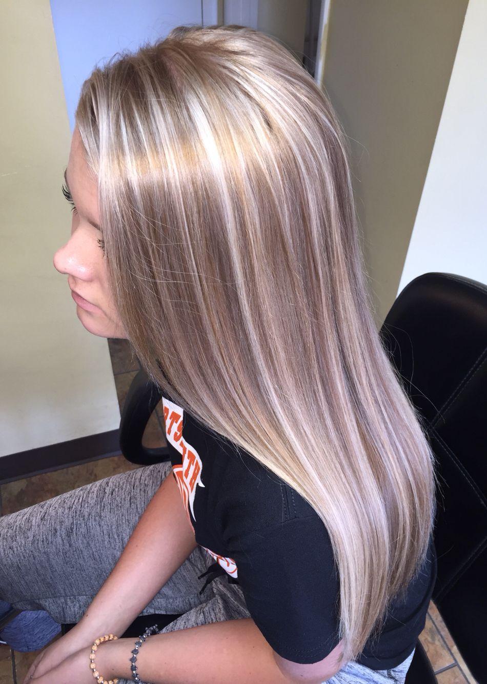 Blonde highlights ideas pinterest - Platinum Highlights Champagne Lowlights Instagram Beauty Bungalow By Stylistlindsey Aol Com Stylistlindsey On
