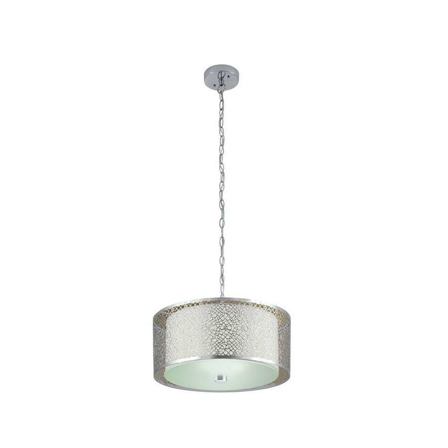 "Shop Portfolio 17"" Chrome Pendant Light At Lowes $99  Sure Awesome Kitchen Lighting Lowes Inspiration"