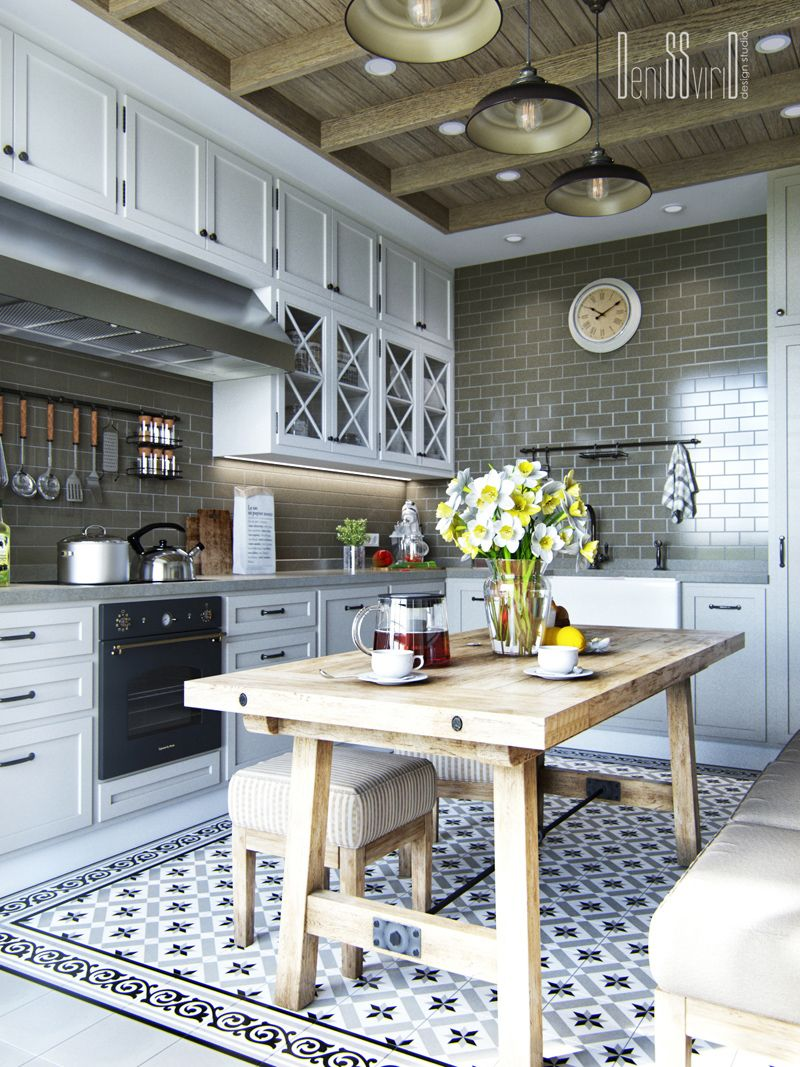 Apartment in provence on behance neoclassic interiors for Provence kitchen design