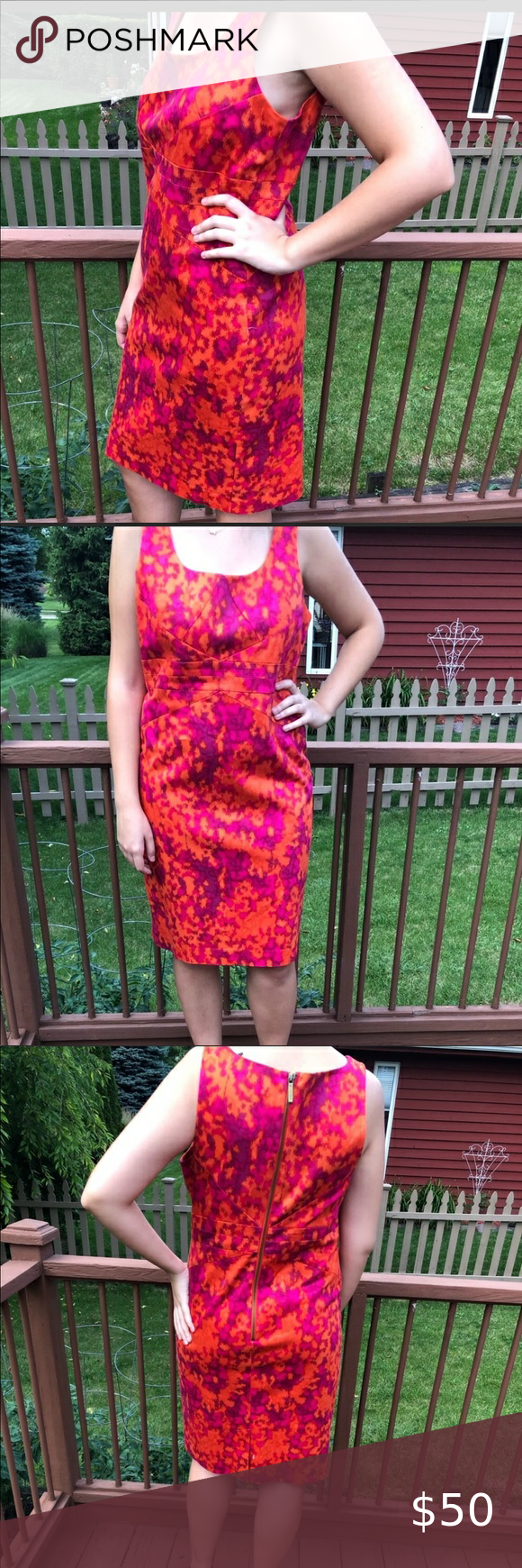 Michael Kors Mother S Da Size 12 Gorgeous Dress The Eyes Will Be On You In Gently Used Condition I Beautiful Red Dresses Hot Pink Dresses Gorgeous Dresses [ 1740 x 580 Pixel ]