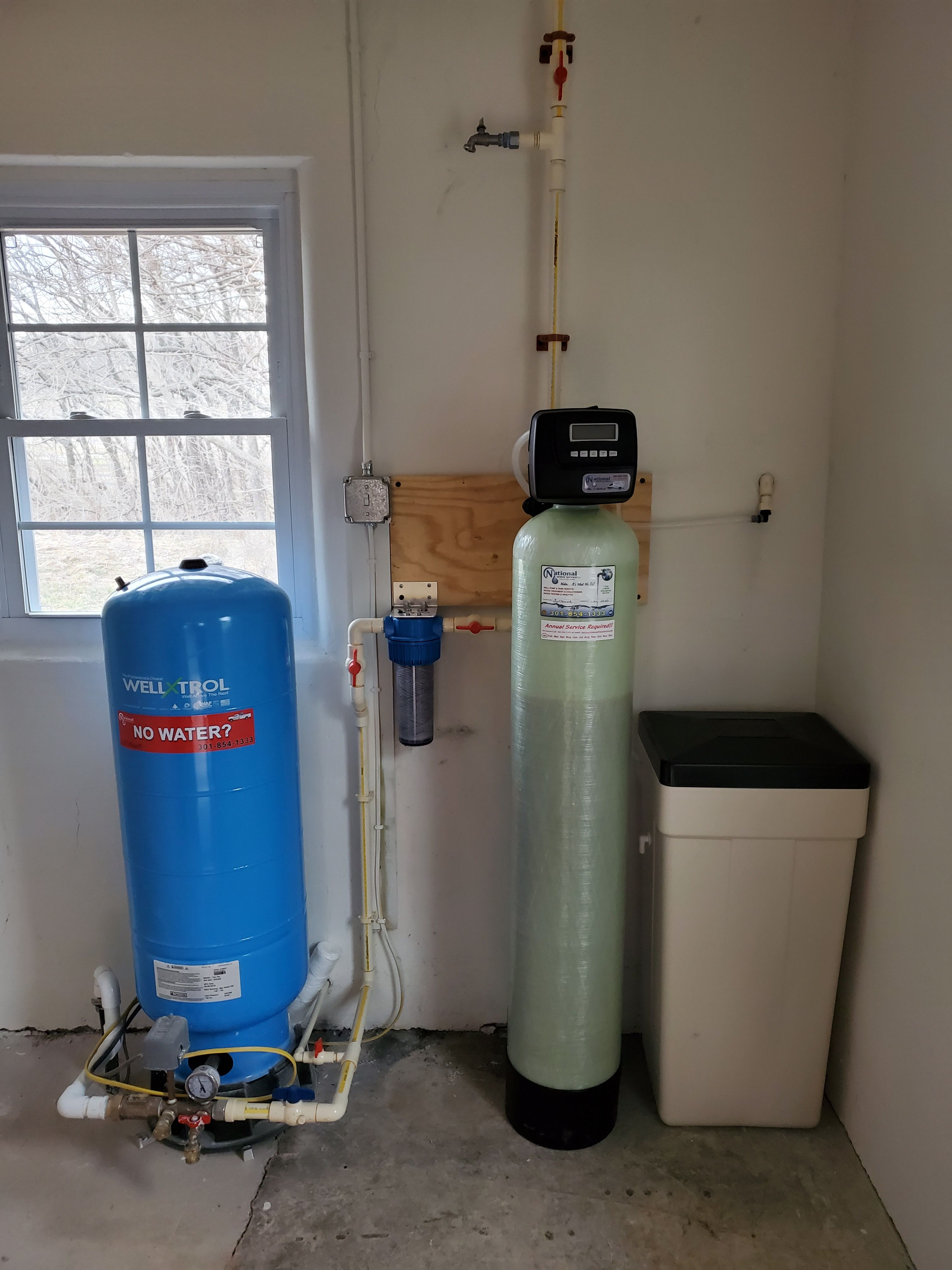 Water Softener Sediment Filter And Pressure Tank Install In 2020 Water Treatment Water Purification System Water Softener