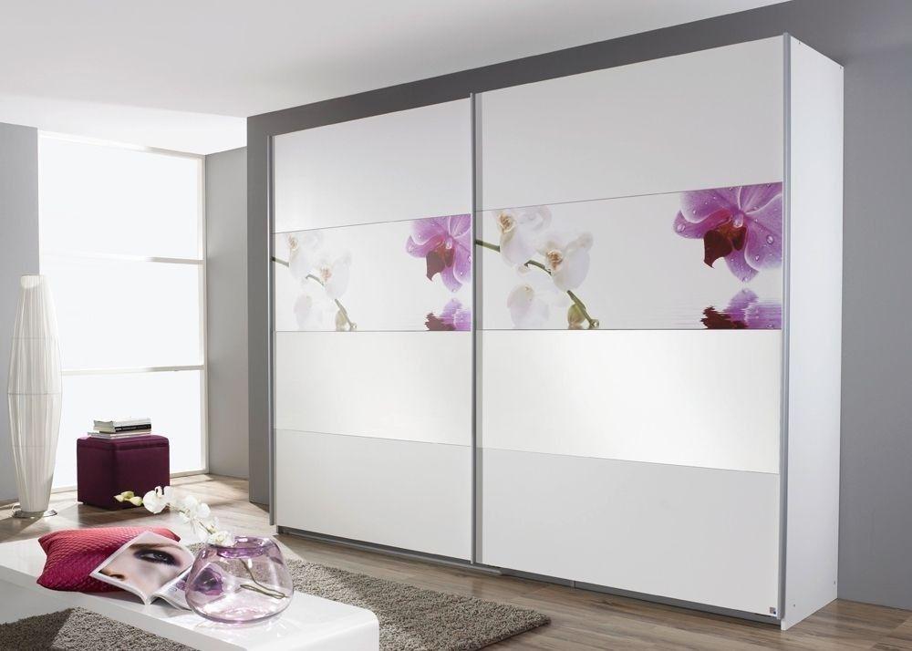 Schrank Soluno 271,0 Weiß mit Motiv Orchidee 8415 Buy now at