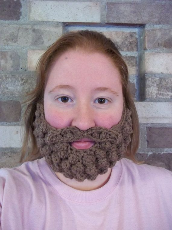 Crocheted beard, hysterical. @Morgan Gibson... you better learn to crochet because this reminded me of you!!! #crochetedbeards