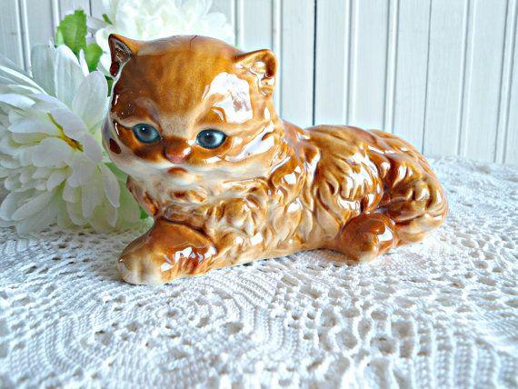 Vintage Goebel Kitten Cat Figurine Orange Ginger By Mamadupuis 85 00 Vintage Cat Cats And Kittens Cat Art