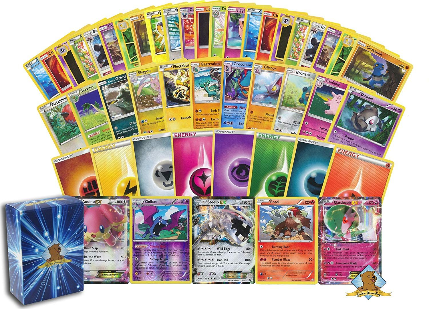 100 pokemon card lot 1 170 hp or higher