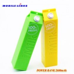 Revive iPower Milk 1 Litre Portable Power Bank 2600mAh Yellow for only £5 at Mobile Links, East London, E13 8HJ, Call - 02036898083