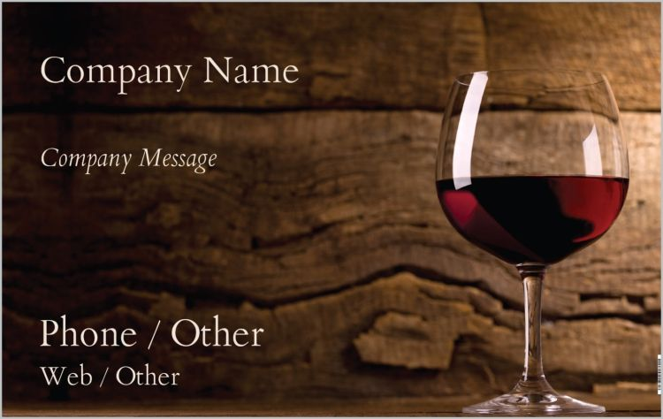 Custom Banner Premium Business Cards Red Wine Business Card Stand