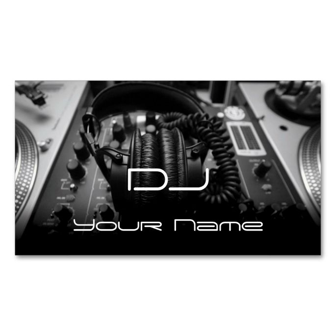 Pin On Dj Business Cards