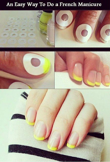 Master The At Home Manicure With These 20 Nail Hacks French Manicures Diy Manicure Tutorials Diy Manicure