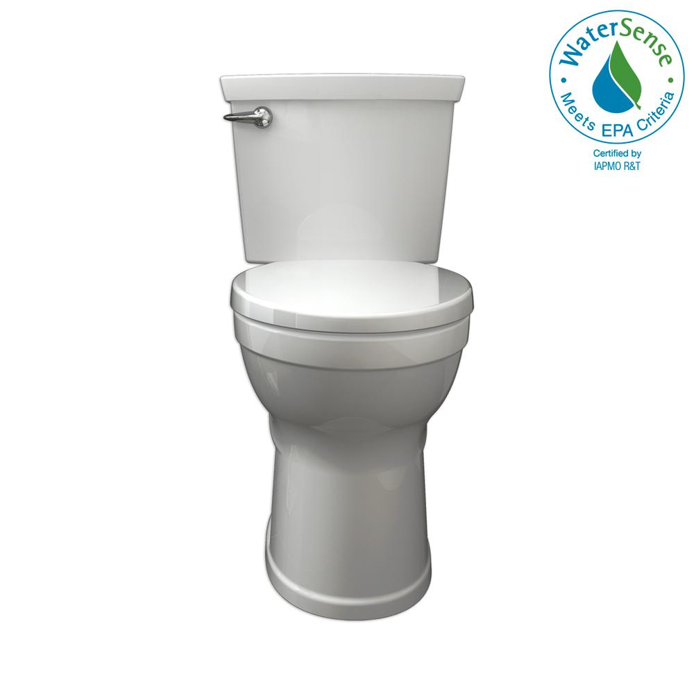 American Standard Champion 4 Max Tall Height 2 Piece Het 1 28 Gpf Single Flush Elongated Toilet In White With Slow Close Seat 2586 128st 020 The Home Depot American Standard Toilet Tall Toilets